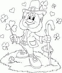 Leprechaun Shamrocks Hearts Coloring Pages