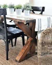 Industrial Farmhouse Dining Table X Brace Many More Leg Furniture Ideas