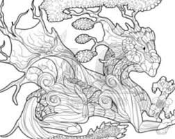 Forest Dragon Coloring Page PDF DOWNLOAD