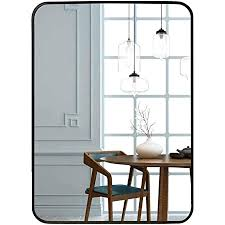 egleson groß wandspiegel 50x70cm mit schwarz metallrahmen spiegel für wohn bad kinder oder schlafzimmer