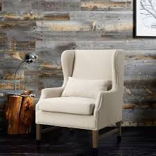 Wingback Chair Slipcover Linen by Devon Linen Wing Chair Tov Furniture Modern Manhattan