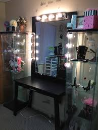 Makeup Vanity Table With Lighted Mirror Ikea by Furniture U0026 Rug Makeup Vanities With Lights Makeup Vanity Table
