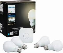 philips hue white a19 starter kit hue bridge w 4 hue led bulbs