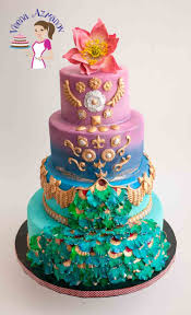 Peacock Inspired Wedding Cake for Incredible India Collaboration