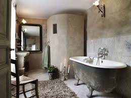 French Country Cottage Rustic Bathroom