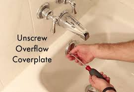 Bathtub Overflow Plate Fell Off by How To Remove A Fiberglass Bathtub And Surround In 60 Minutes