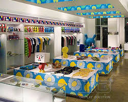 KG05 Creative Kids Clothes Store Display Design