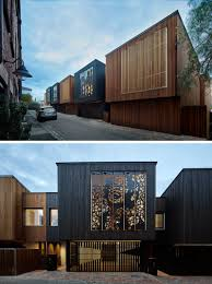 100 Townhouse Facades Artistic Laser Cut Screens Are A Creative Feature On These Homes In