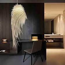 moderne elegante pendelleuchte weiß federle hängele