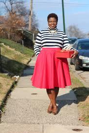 Plus Size Fashion Midi Skirts Color Blocking Monochrome