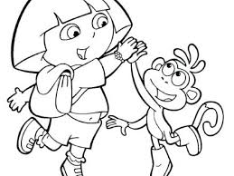 Free Printable Dora And Diego Coloring Pages Boots Pics Photos Map