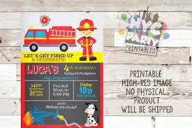 Firefighter Invitation Firefighter Party Firefighter | Etsy