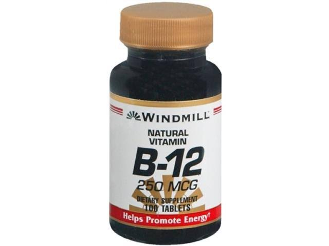 Windmill Vitamin B-12 250 mcg Tablets 100 Tablets
