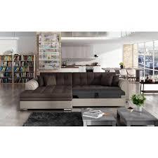 couchgarnitur sarra schwarz grau mit schlaffunktion