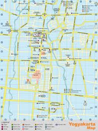 Alphabetically Cities Map Of Yogyakarta Population