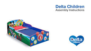 Mickey Mouse Clubhouse Toddler Bed by Delta Children Interactive Wood Toddler Bed Assembly Video Youtube