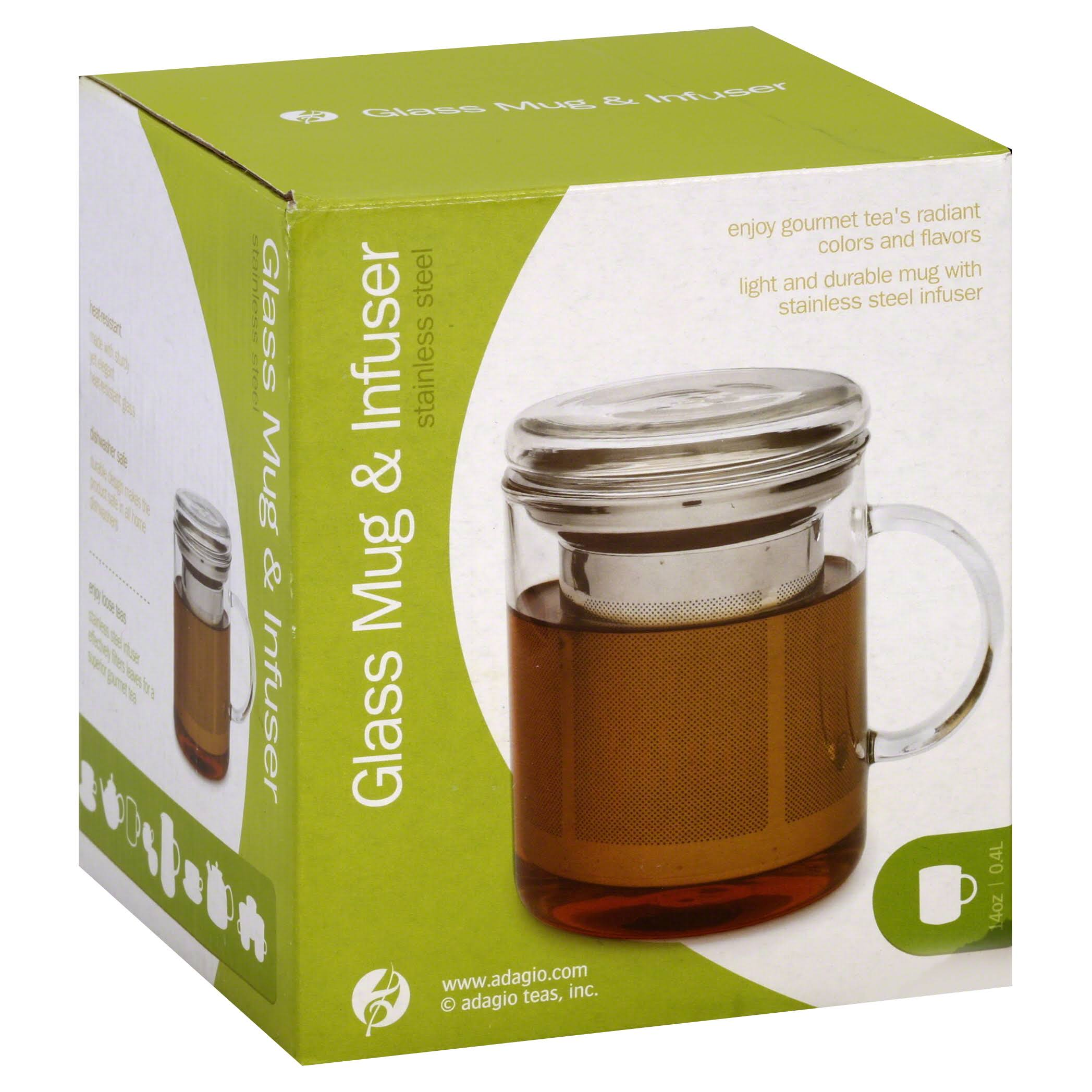 Adagio Teas Glass Mug & Infuser - 14oz