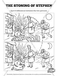 Acts 7 The Stoning Of Stephen Kids Spot Difference