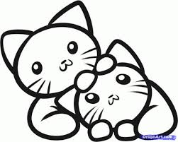 Cute Kitten Coloring Pages Colouring To Print Free Online