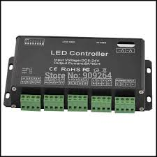 Free shipping 6channel DMX led controller for RGB led lights dmx