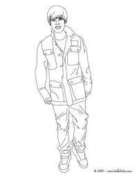 Justin Bieber Love Sign Stand Up Coloring Page