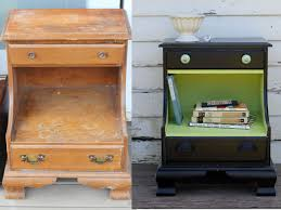 Before and After upcycled painted furniture Cute little night