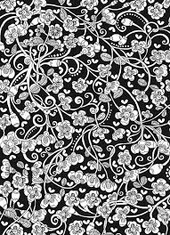Creative Haven Midnight Garden Coloring Book Heart Flower Designs On A Dramatic Black Background