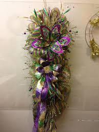 40 best mardi gras images on pinterest wreaths masks and deco mesh