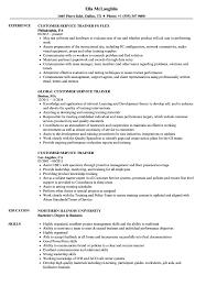 Download Customer Service Trainer Resume Sample As Image File