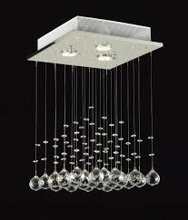 Modern Chandeliers With Lights Pendant Light Crystal Drops Round Fixture Globe Circular