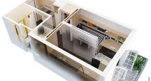 500 Square Foot Apartment Floor Plan 3D Studio Design Ideas Feet On Apartments