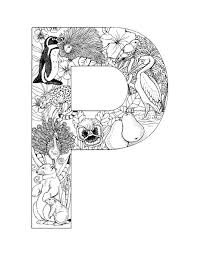 Printable Alphabet Letter Coloring Sheets P Pages GetColoringPages