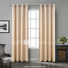 105 Inch Blackout Curtains by Two Panels Chadmade Solid Matt Finish Velvet Curtain Drape Beige