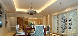 dining room ceiling lights wall and stairs 3d house