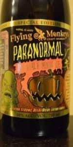 Imperial Pumpkin Ale by Flying Monkeys Paranormal Imperial Pumpkin Ale Flying Monkeys