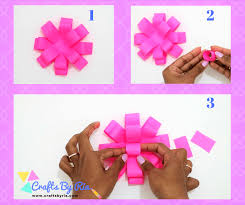 Easy Paper Bow Steps Stick A Small Roll At The Centre