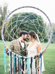 Cozy Rustic Wedding Complete With Giant Dream Catchers
