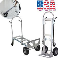 100 4 Wheel Hand Truck USA 2 In 1 Aluminum 770LBS 51Inch Foldable 2 Dolly