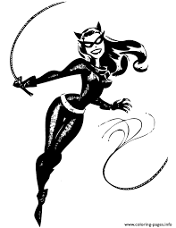Catwoman From Batman Cartoon Coloring Pages