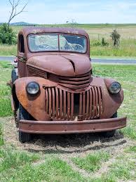 Rusty Old 1940's Chevrolet Truck Seen At