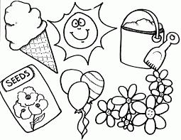 Preschool Printable Spring Coloring Pages Keep Healthy Eating Simple