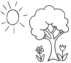 Coloring Page Tree House Pages Pictures Spring Kids Download Trunk Leaves Full Size