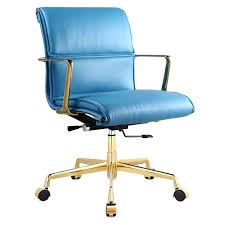 Electric fice Chair fice Chair Teal Leather Electric Motorized