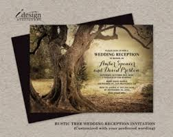 Rustic Woodland Wedding Reception Only Invitation