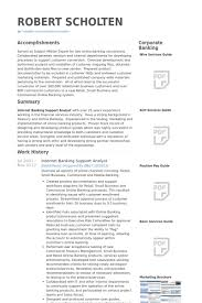 Internet Banking Support Analyst Resume Samples