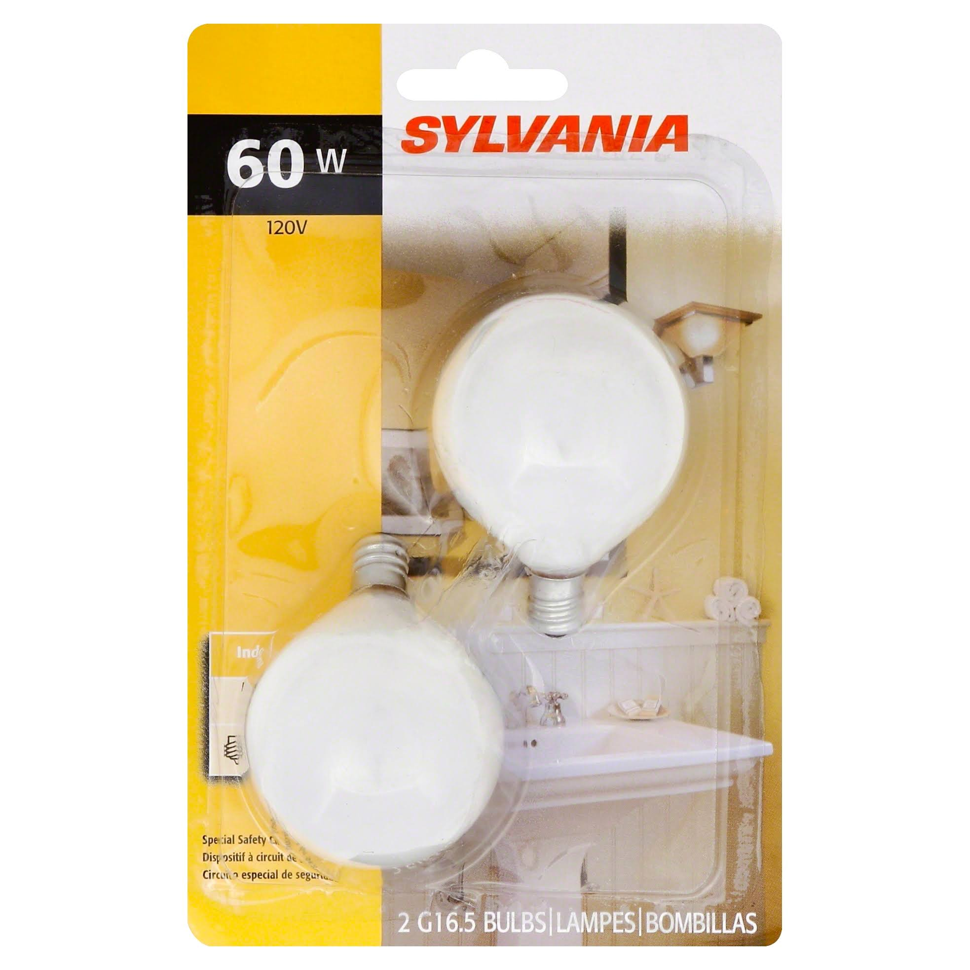 Sylvania Decor Globe - Soft White, 60W, 120V, 2 Bulbs