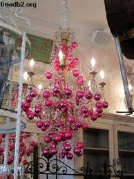 Pink Christmas Ornament Balls Chandelier From My Other Blog Is At