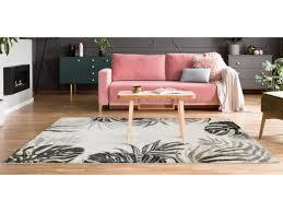 teppich ethno stil feuilla polypropylen 120 x 170 cm beige kaki