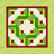 Log Cabin Mini Christmas Wreath Tutorial – Christa Quilts