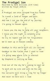 Bathroom Sink Miranda Lambert Chords by The Prodigal Son Hank Williams Sr Country Gospel Chords Guitar